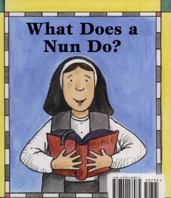 What does a Nun do children's book cover.