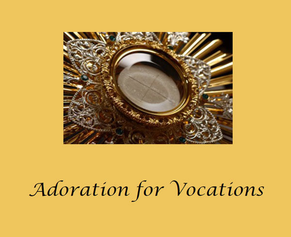 Adoration for Vocations Banner