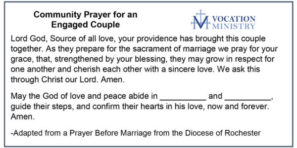 Community Prayer for Engaged Couple.