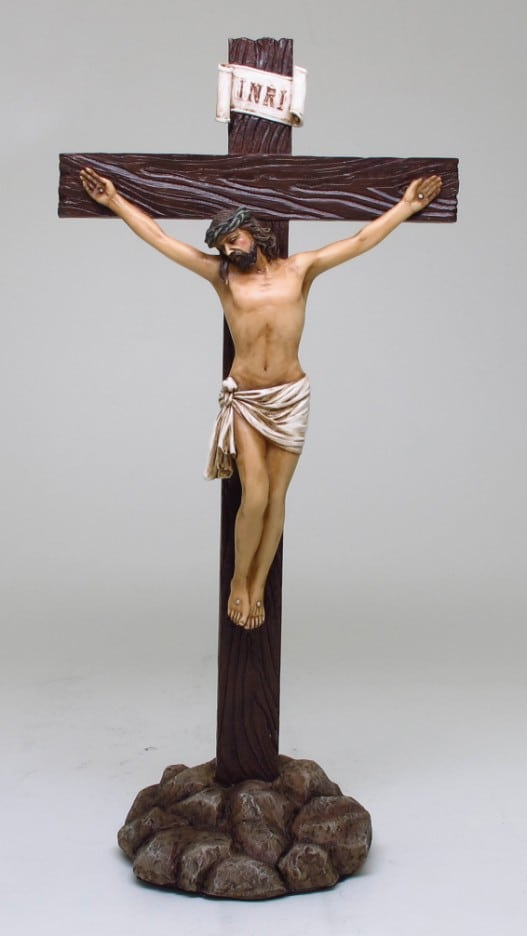 Crucifix on a Stand.