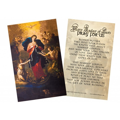 Mary Undoer of Knots Marriage Prayer Card.