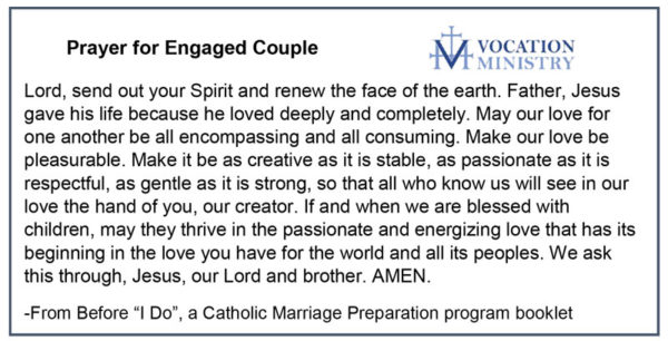 Prayer for engaged couple.
