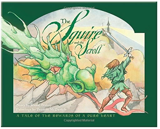 book cover of the squire and the scroll.