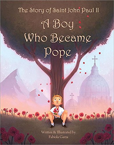 book cover of a boy who became pope.