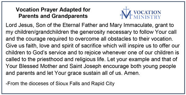 Vocation Prayer adapted for Parents and Grandparents.