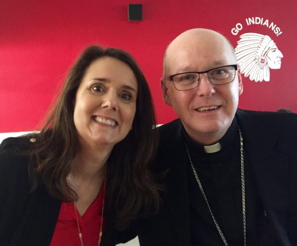 Rhonda with Father Cahill.