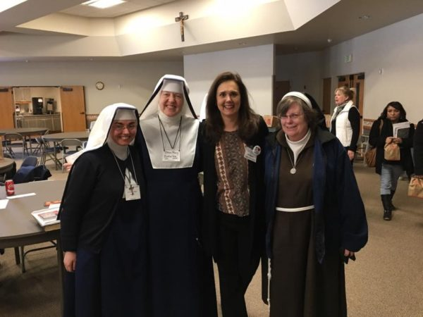 Poor Clare Sisters and Sisters of Mary, Mother of the Church in the audience!