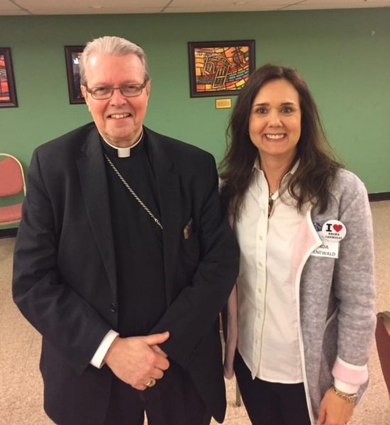 Bishop Scharfenburger and Fr. Ligato, Vocation Director