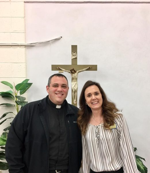 Rhonda Gruenewald at diocese in Belleville Illinois
