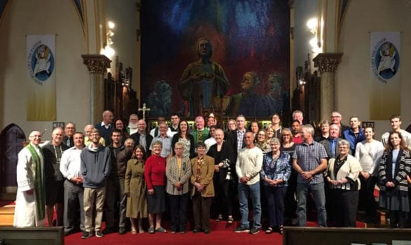 group photo of dioceses of london and peterborough.