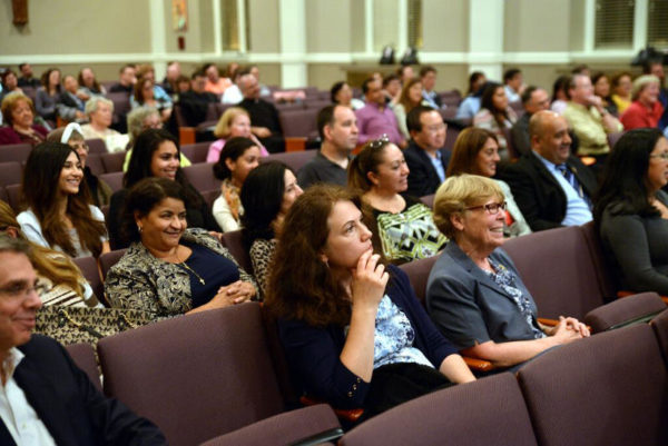 new york audience at a vocation ministry workshop.
