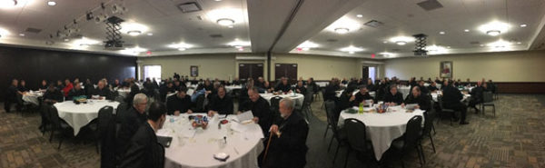 Audience at Peoria Illinois workshop for priests.