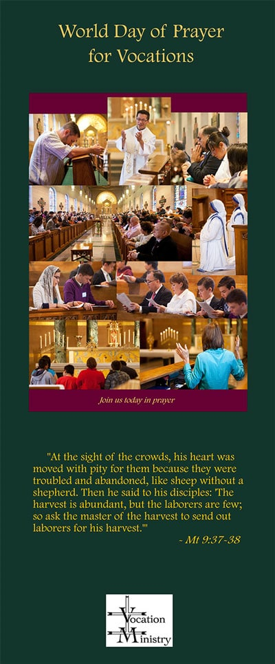 World Day of Prayer Vocations Banner.