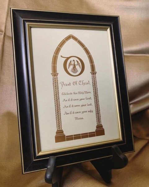 Framed art for priests